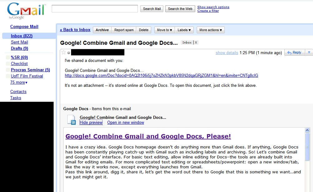 Google + Google Docs