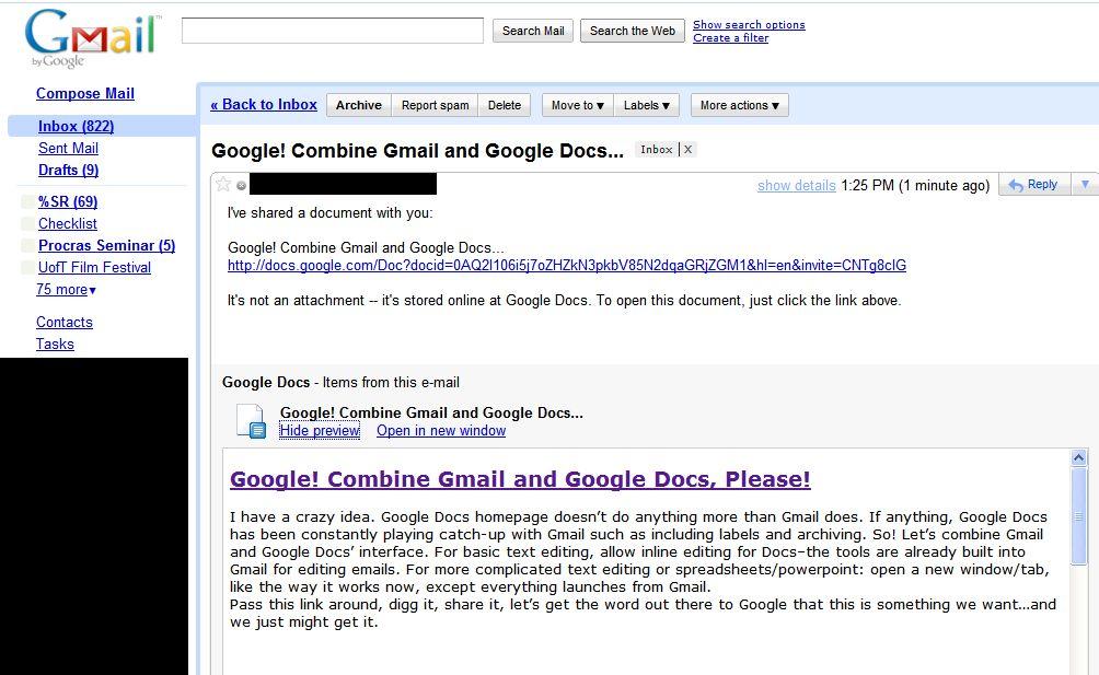 Google + Google Docs